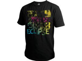 Eclipse Mens Grunge T-Shirt Spectrum Black