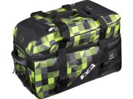 Eclipse Split Compact Bag Plaid Lime